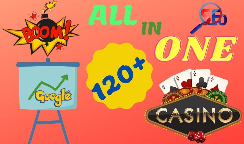 120+CASINO,  SORTS,  GAMING Nichel Link-building SEO Combo Pack on High Quality Sites with Huge Poker.