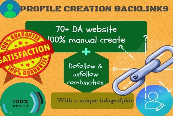 I will do 20 high PA & DA profile creation backlinks