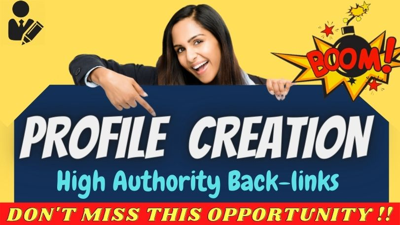 Manually create 100+ High Quality Social Profile with your brand logo & backlinks SEO linkbuilding