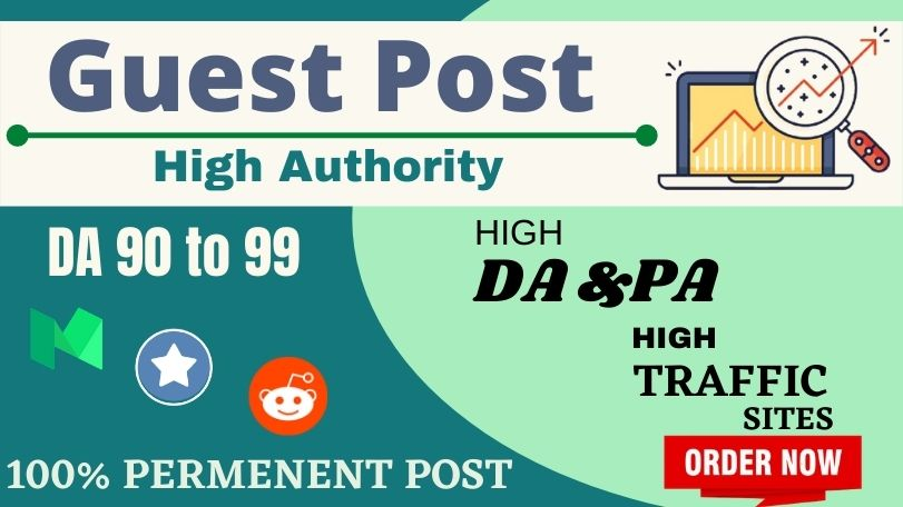 Write & Publish 3 Guest Posts On DA90+ Websites With Backlinks