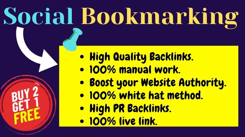Manually Build 100 High quality and High PR Social Bookmarking Back-links Linkbuilding with login