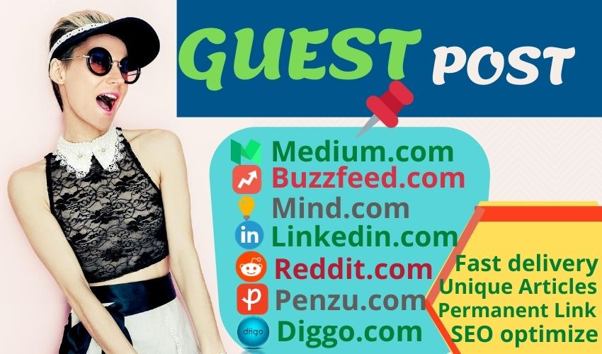 Build 7 High Quality Guest Post Backlinks on (85+)DA Unique Domain with 7 Unique Article.