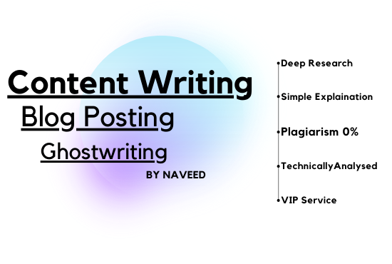 Get very unique easily readable ghost, blog, content writing of 500+ words