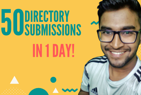 I wiil provide 50 approval directory submission,  web directory
