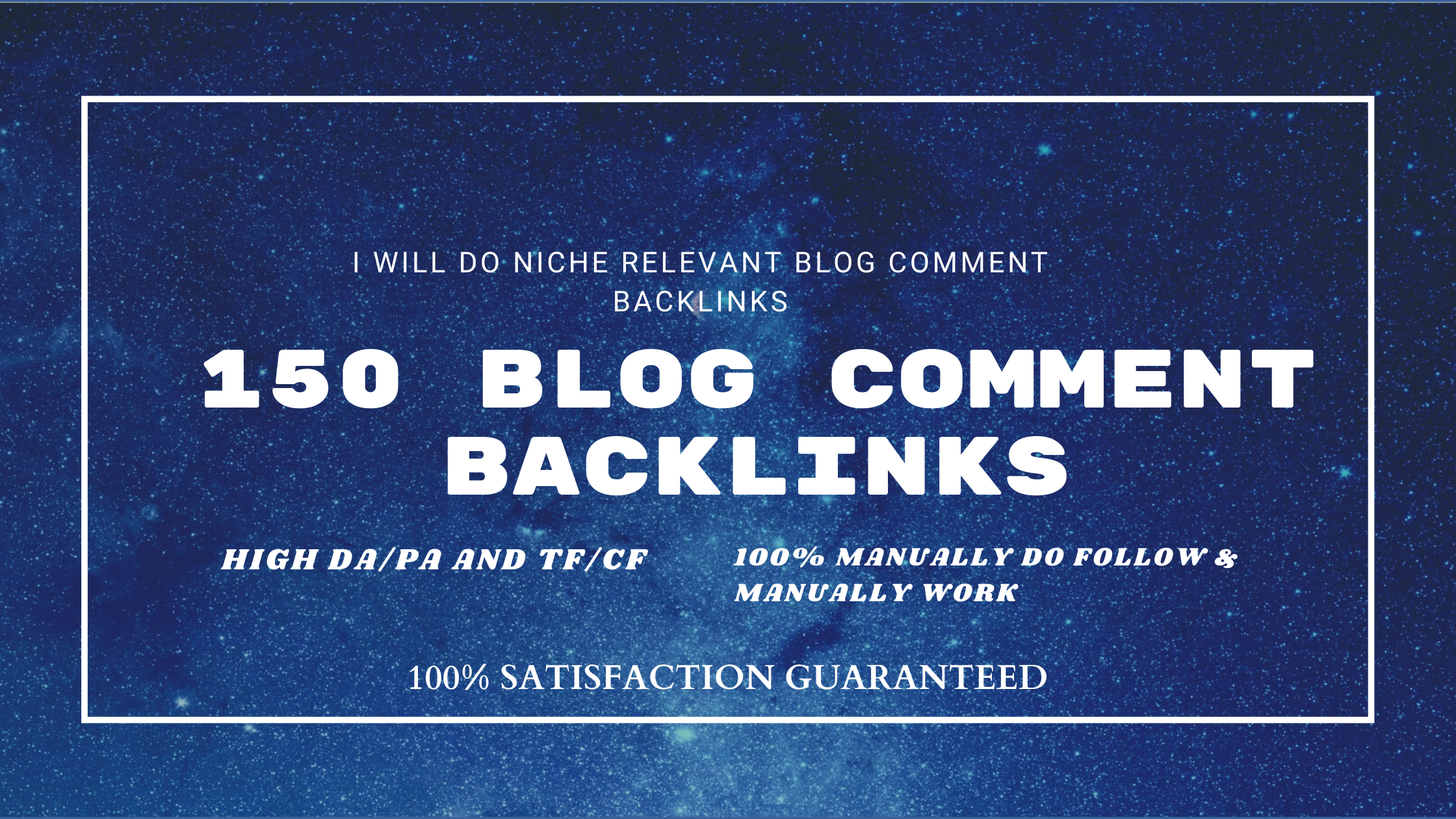 I will do 150 niche relevant do follow blog comment backlinks