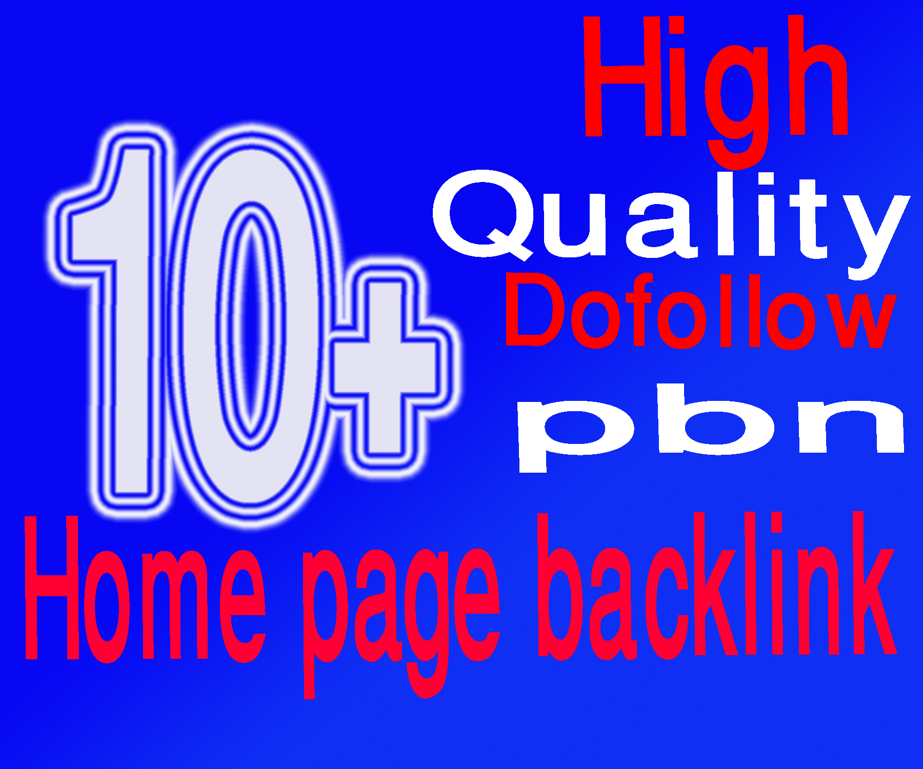 Build 10+ Manual PBN Home Page DoFollow Backlinks.