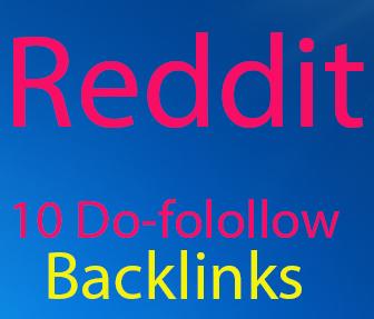 Reddit Rank Powerfull 10 Do-Folollow Backlinks For Your sites