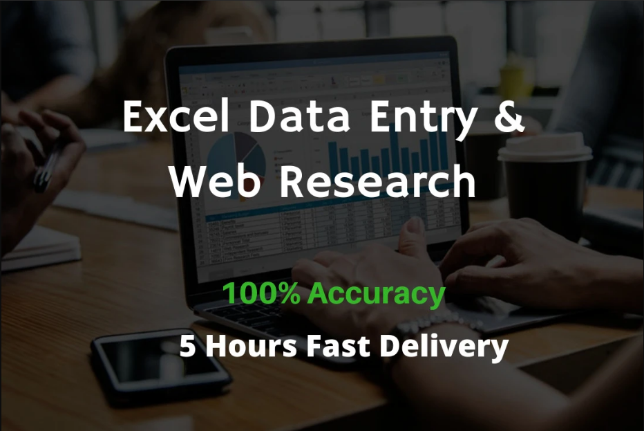 Do Excel Data Entry And Web Research Professionally.