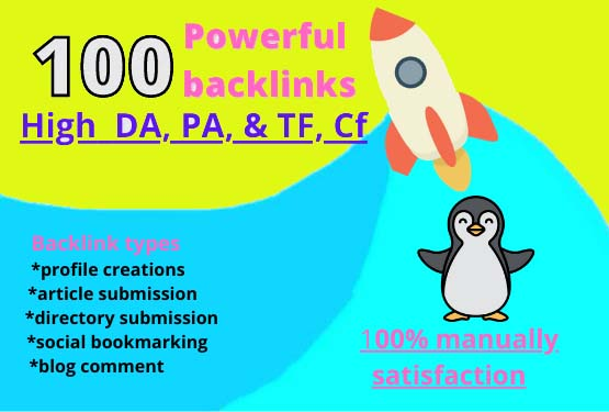 I will build 100 High DA& PA powerful unique domains backlinks.