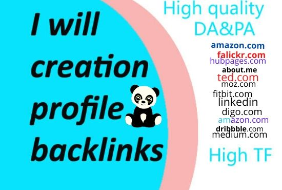 I will give 30 social media profile creation backlinks service
