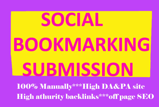 I will manually build 30 High quality social Bookmarking submission SEO backlinks.