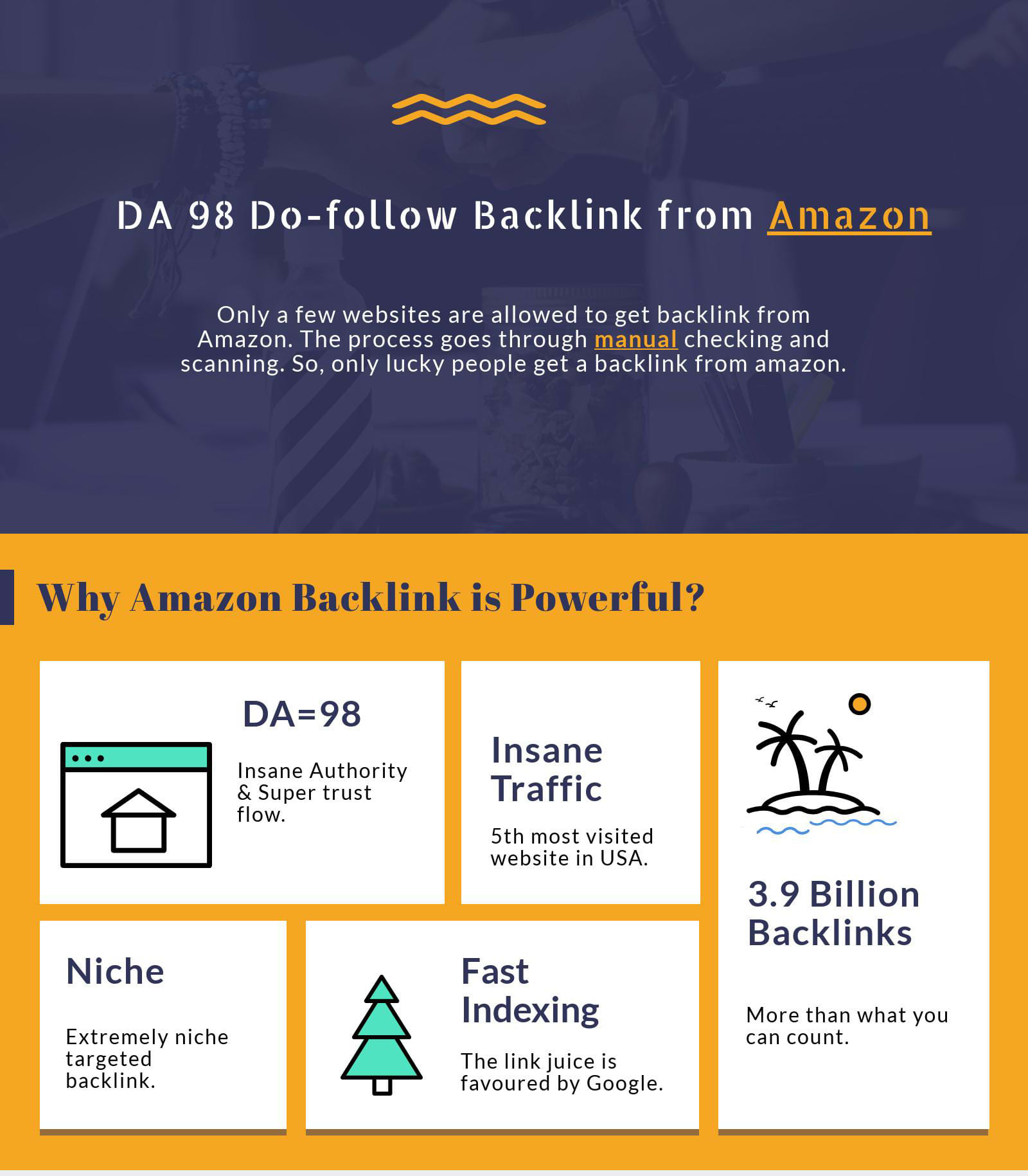 I will Manually get backlink from Amazon da 94 Do-follow