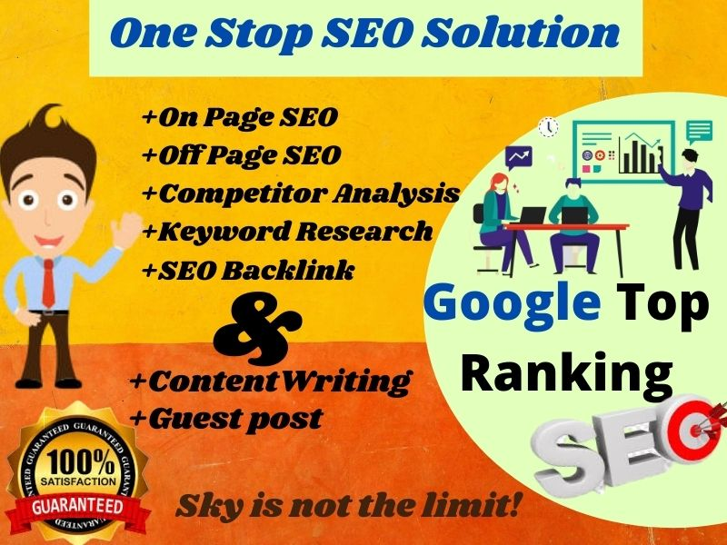 I Will Do SEO Onpage Offpage Complete Schedule Customer Need base Service