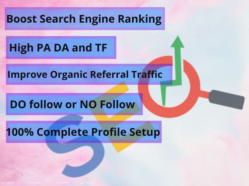 I will do 30 Profile Creation that support you to reach one step ahead from your competitors.