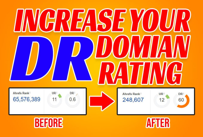I will increase your website ahref domain rating dr 50 plus
