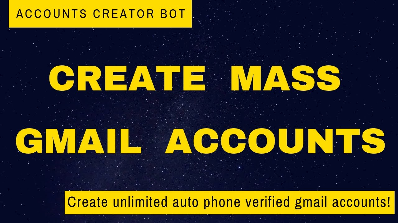 Automatic mail Account Creator Bot In Python