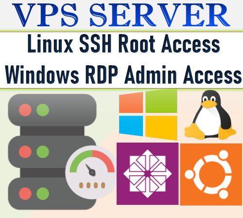 VPS linux server hosting 6 Months.