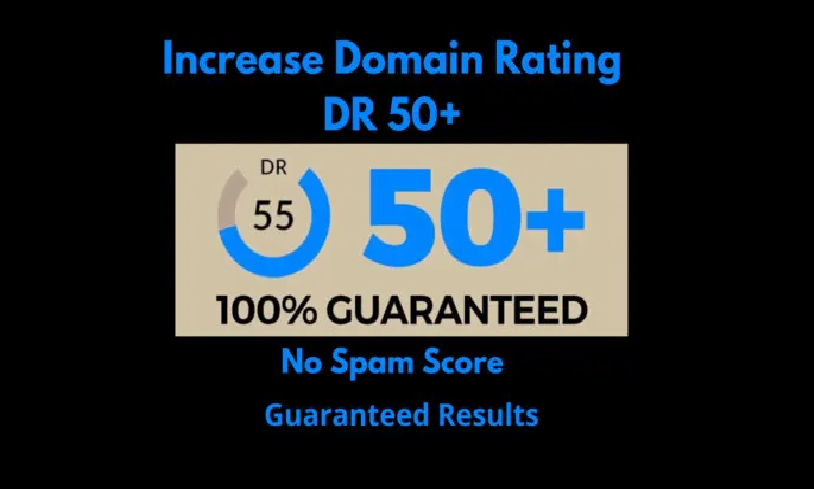 I will increase domain rating ahrefs DR 50 plus with SEO HQ backlinks