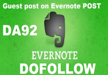 I Will Write and Publish Guest Post on Evernote. com
