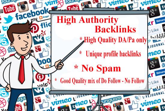 I will do 25 high-quality profile creation backlinks