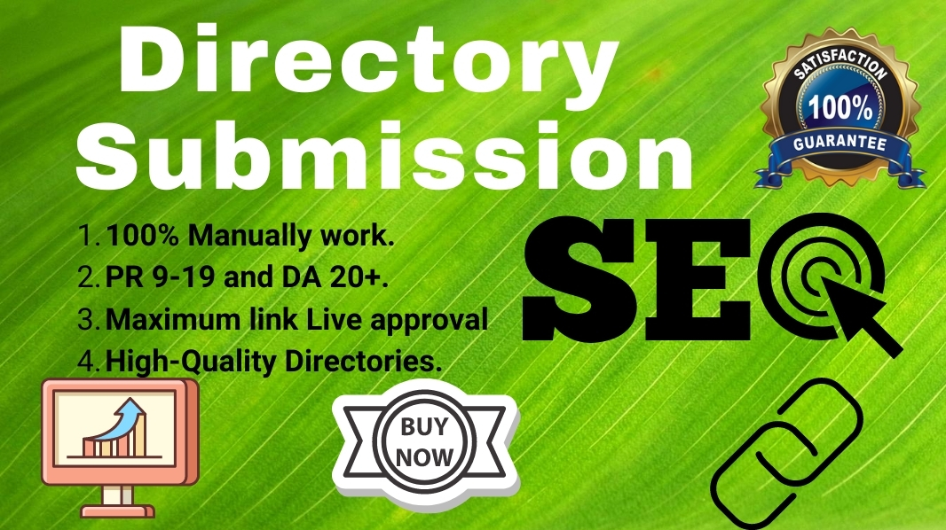 I will manual 100 High Quality Directory Submission Bcklinks