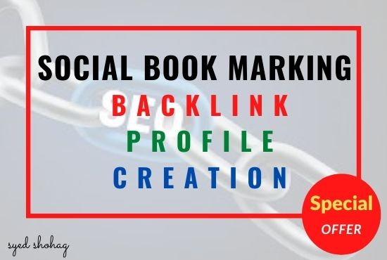 I will provide 50 social books marking for your website