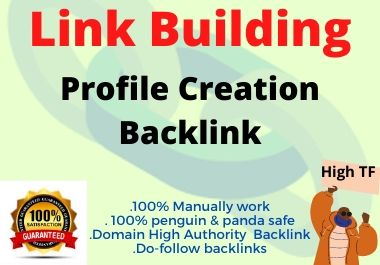 I will do 100 High Authority social profile creation backlink building