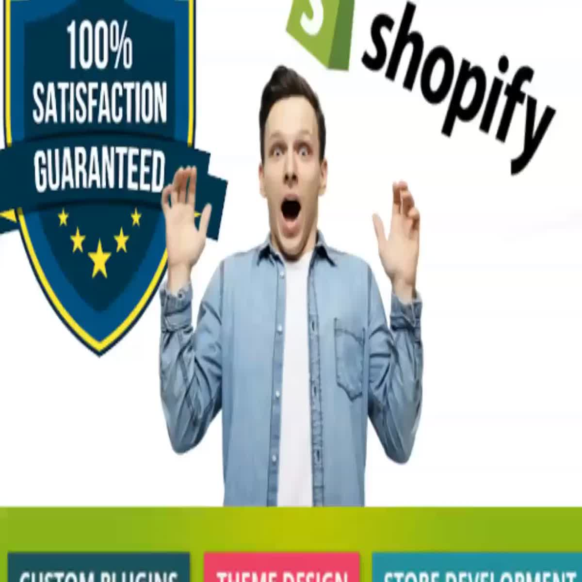 I will create a professional shopify store or shopify website