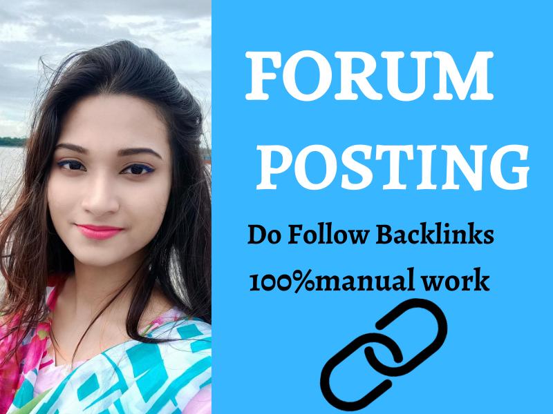 I will Do 25 High Authority Forum Posting Backlink