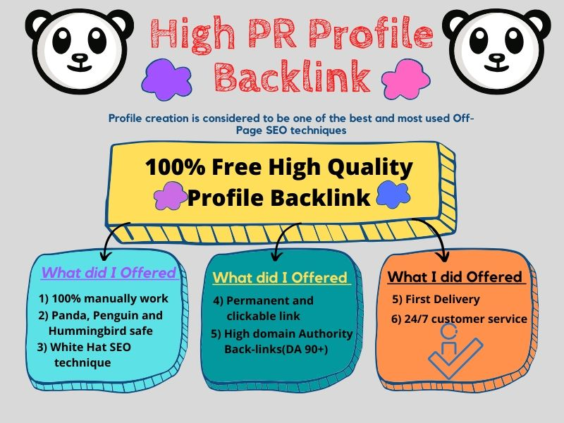If you need 30 High Quality Profile Backlink then you will get this opportunity from me.