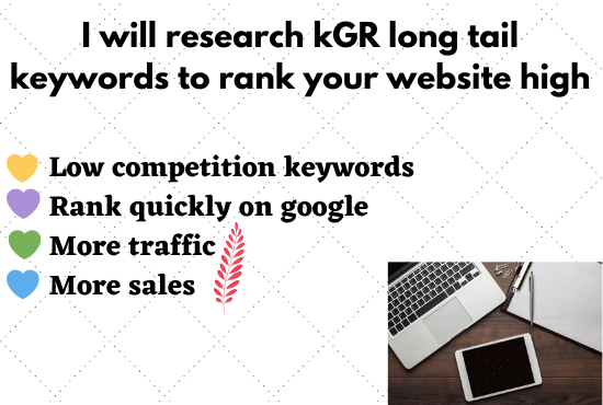I Will Provide kGR Long Tail Keywords For Your Site