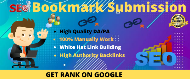 I will do manually 30 bookmark submission for HQ backlinks