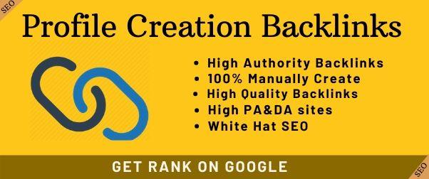 I will do 30 High Quality Do-follow Profile Creation Backlink