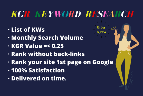 kgr keyword research for ranking website