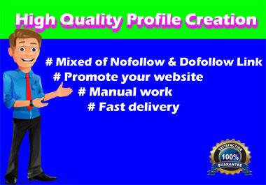 I Will Do 30 High Quality Do Follow Profile Creation Backlink