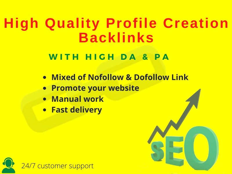 I will do 30 high quality profile creation backlink.