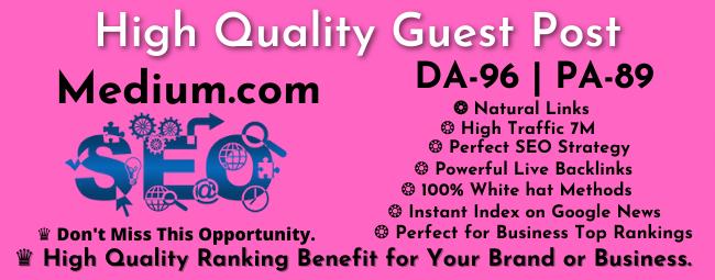 Guest Post on Medium DA 96 PA 81 Authority Blog With 12 Million Traffic