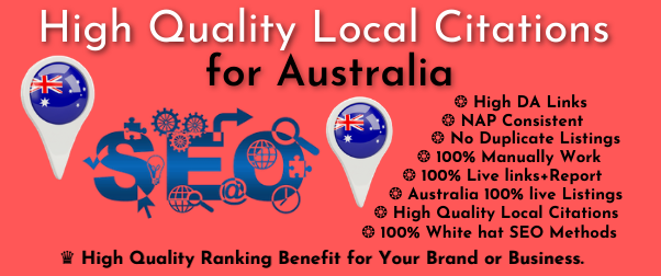 Australia high quality 30 local citations or local listing for your Brand or business