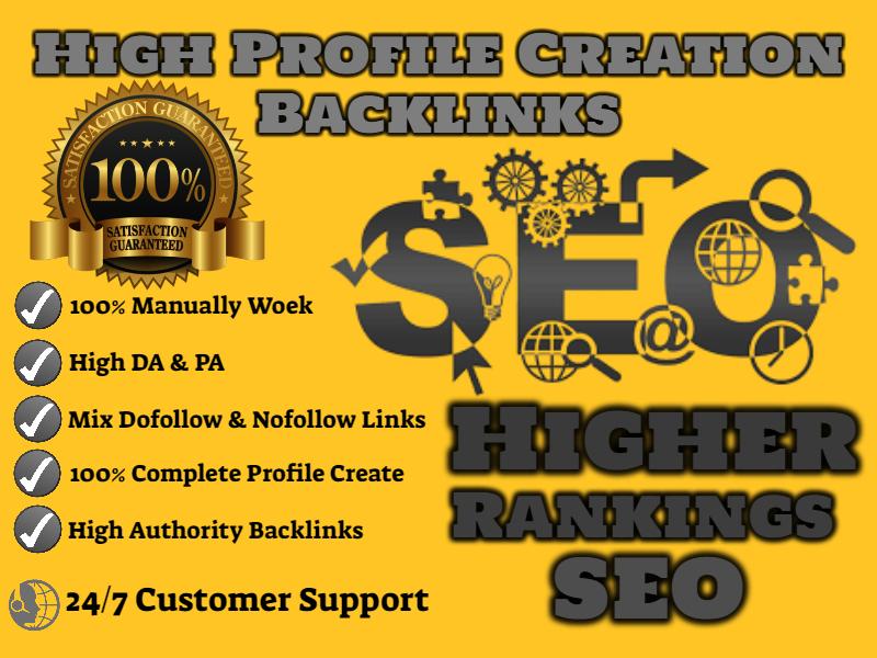 Create 100 Unique Profile Creation Backlinks
