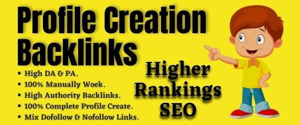 Create 60 Do-Follow Profile Creation Backlinks