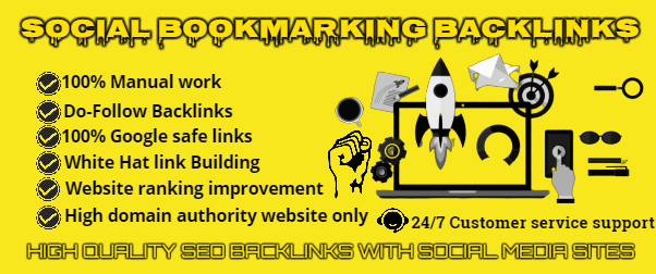 I will Provide 50 High DA, PA Manually Social Bookmarking Backlinks Best for Your SEO