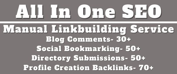 All In One Manual SEO Link Building Service Package