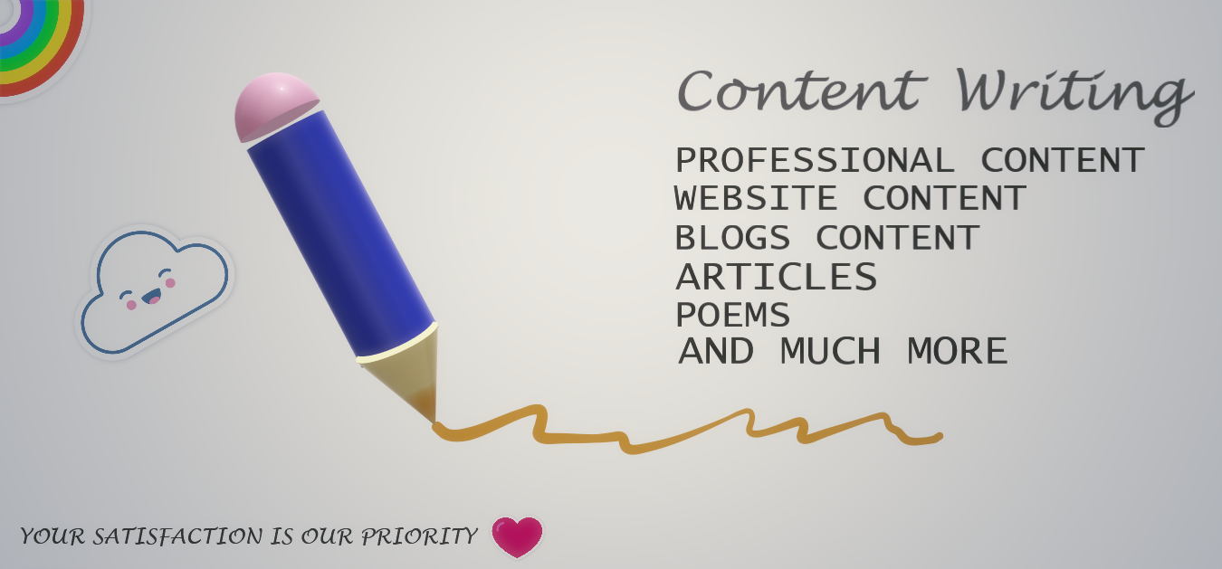 content writing / all types of content for your blogs and websites /specialization in articles