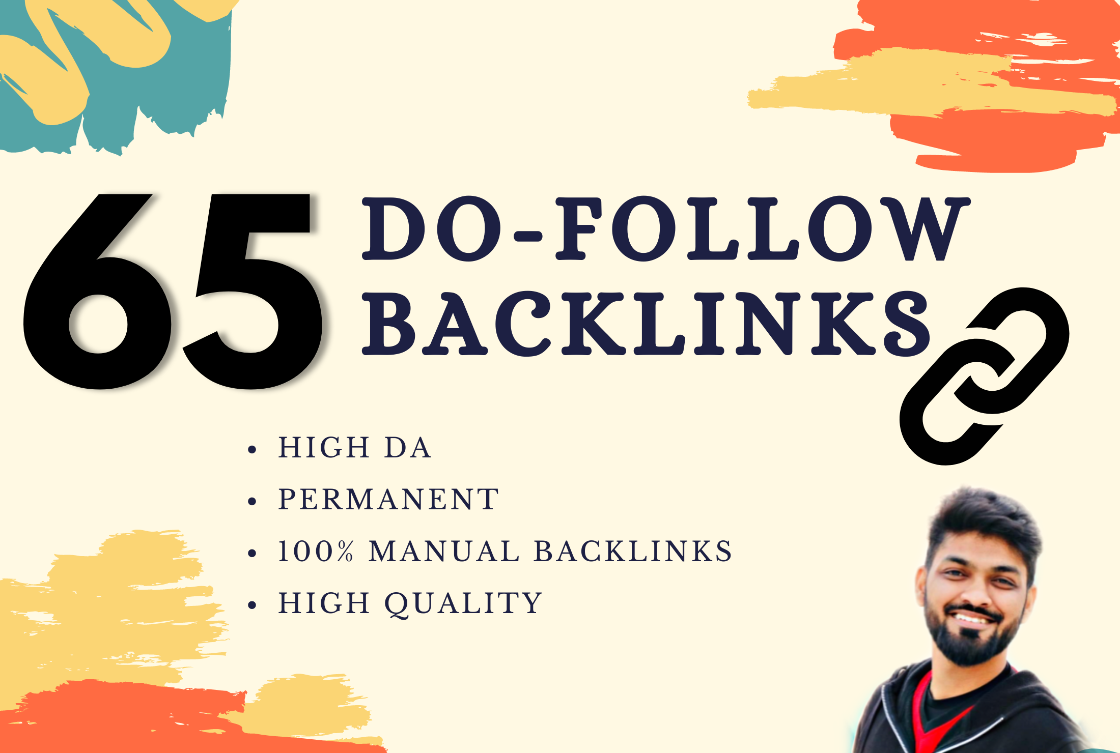 I will do 65 HQ dofollow SEO optimized backlinks,  skyrocket on google ranking.