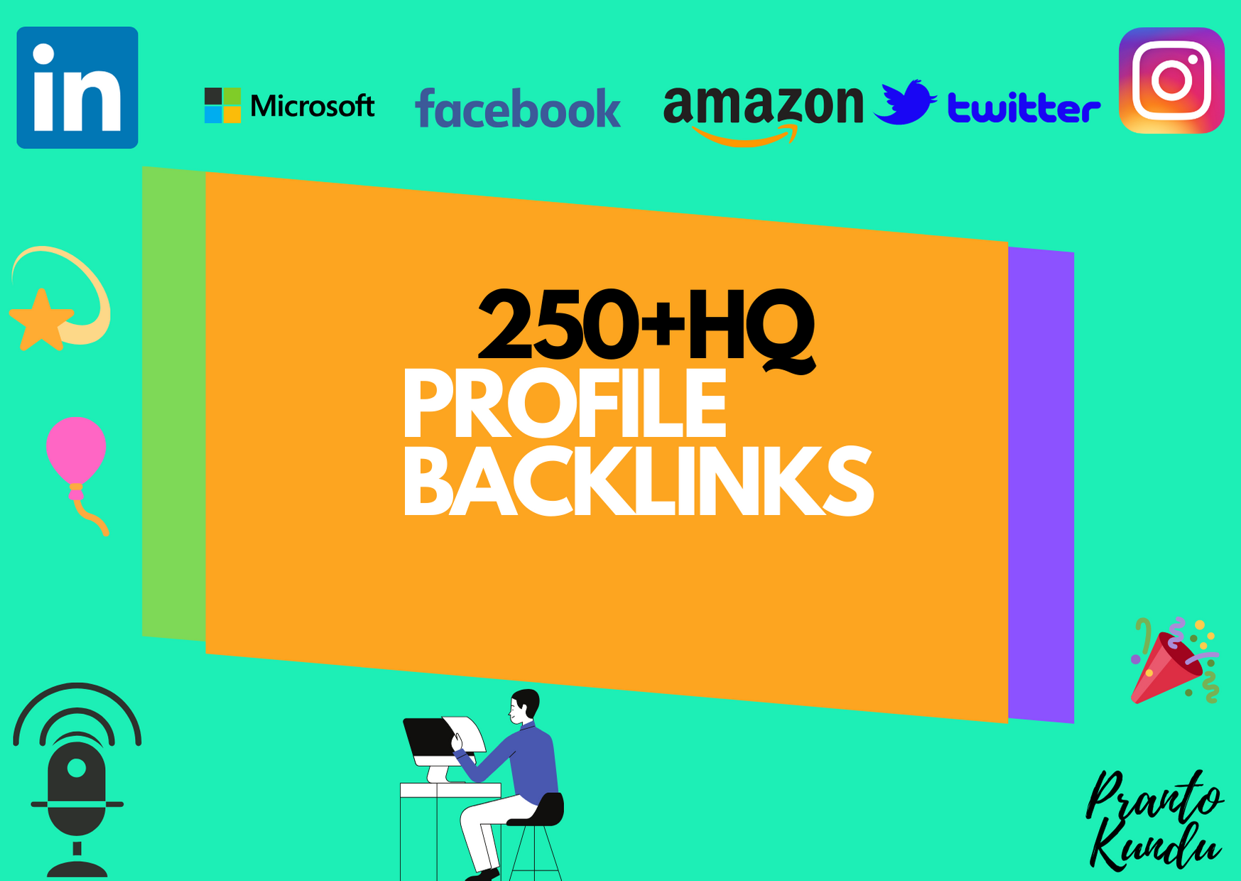 I will do 250+ profile backlinks with high DA & PA