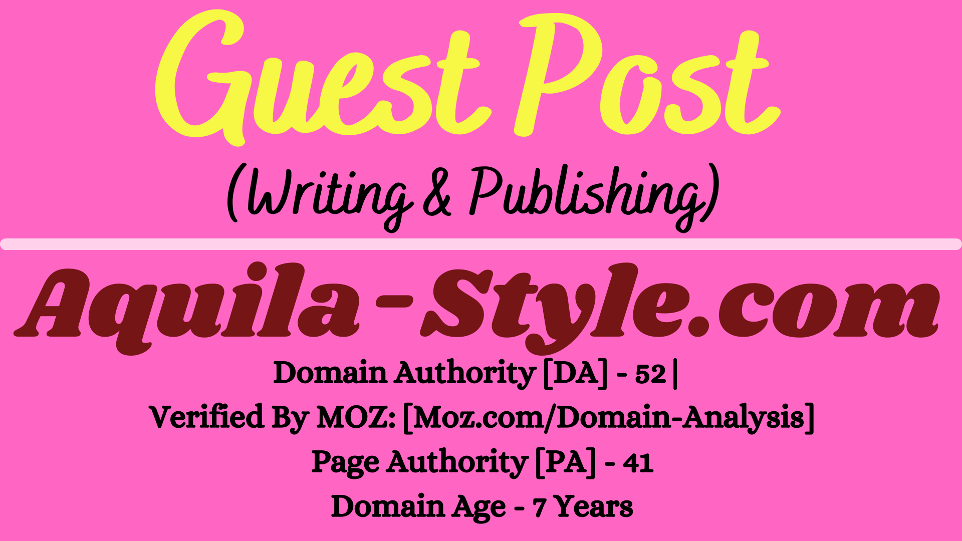 I will provide Guest Post on Aquila-Style. com