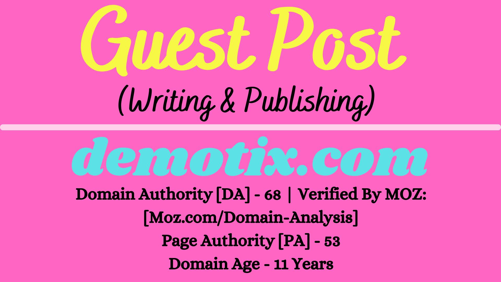 I will provide Guest Post on demotix. com