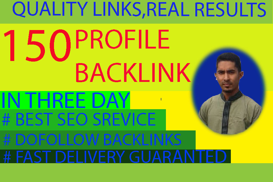 I will create for you 150 unique profile high pr seo backlinks