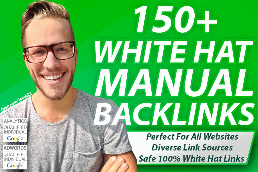 Create 150+ SEO backlinks white hat manual link building service for google top ranking