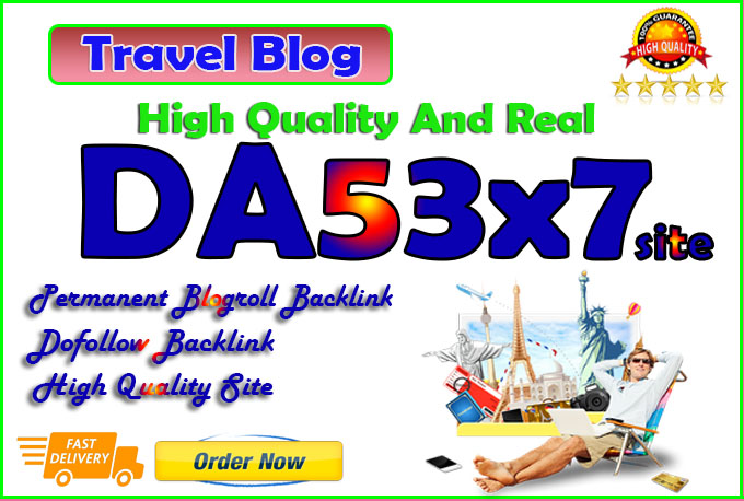 your backlink on da53x7 travel permanent blogroll